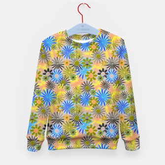 Miniaturka Yellow and Blue Daisies Kid's sweater, Live Heroes