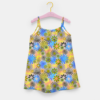 Miniaturka Yellow and Blue Daisies Girl's dress, Live Heroes