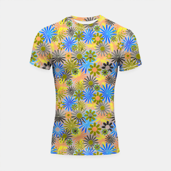 Miniaturka Yellow and Blue Daisies Shortsleeve rashguard, Live Heroes