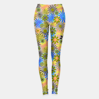 Miniaturka Yellow and Blue Daisies Leggings, Live Heroes