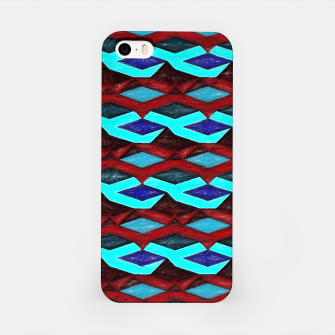 Thumbnail image of Blue Red Ribbons iPhone Case, Live Heroes