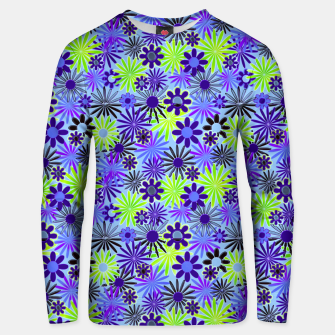 Thumbnail image of Purple and Green Daisies Unisex sweater, Live Heroes