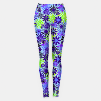 Thumbnail image of Purple and Green Daisies Leggings, Live Heroes