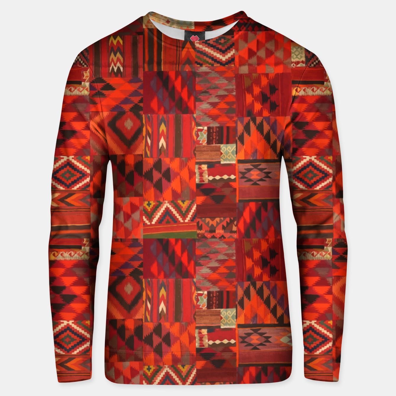 Image of Boho Traditional Moroccan Red Collage Style Artwork Unisex sweater - Live Heroes