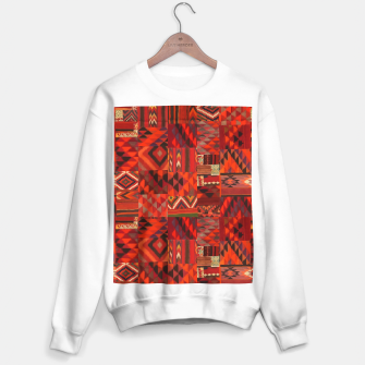 Thumbnail image of Boho Traditional Moroccan Red Collage Style Artwork Sweater regular, Live Heroes