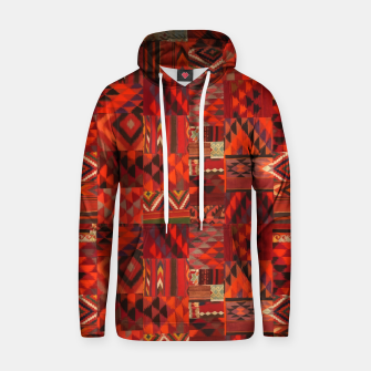 Thumbnail image of Boho Traditional Moroccan Red Collage Style Artwork Hoodie, Live Heroes