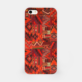 Thumbnail image of Boho Traditional Moroccan Red Collage Style Artwork iPhone Case, Live Heroes
