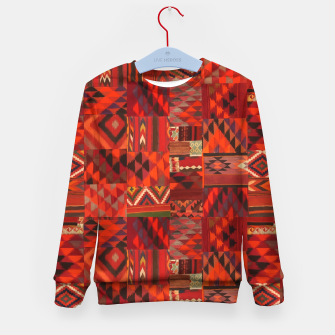 Thumbnail image of Boho Traditional Moroccan Red Collage Style Artwork Kid's sweater, Live Heroes