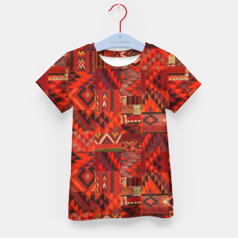 Thumbnail image of Boho Traditional Moroccan Red Collage Style Artwork Kid's t-shirt, Live Heroes