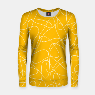 Abstract pattern - orange and white. Women sweater thumbnail image