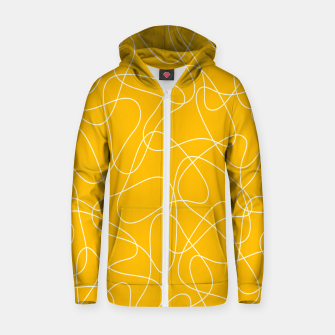 Abstract pattern - orange and white. Zip up hoodie thumbnail image