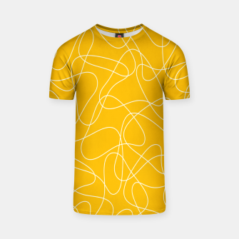 Abstract pattern - orange and white. T-shirt thumbnail image