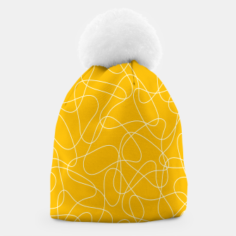 Miniaturka Abstract pattern - orange and white. Beanie, Live Heroes