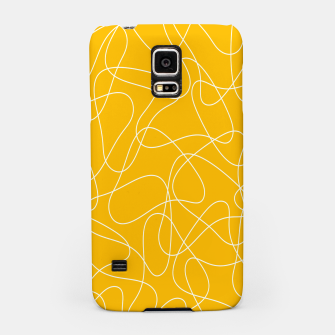 Miniature de image de Abstract pattern - orange and white. Samsung Case, Live Heroes