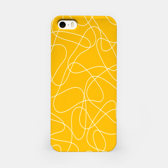 Abstract pattern - orange and white. iPhone Case thumbnail image