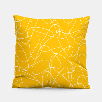 Abstract pattern - orange and white. Pillow thumbnail image