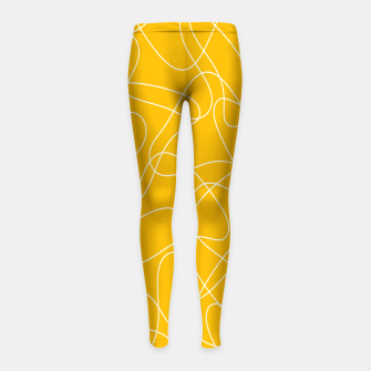 Miniaturka Abstract pattern - orange and white. Girl's leggings, Live Heroes