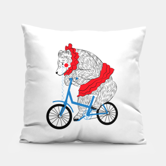 Sad Circus Bear. Animal abuse, animal rights Pillow thumbnail image
