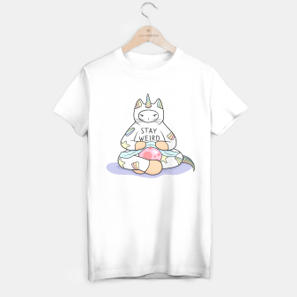 Thumbnail image of Weird Unicorn Cat cares T-shirt regular, Live Heroes
