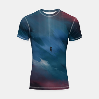 Thumbnail image of Dark night Shortsleeve rashguard, Live Heroes