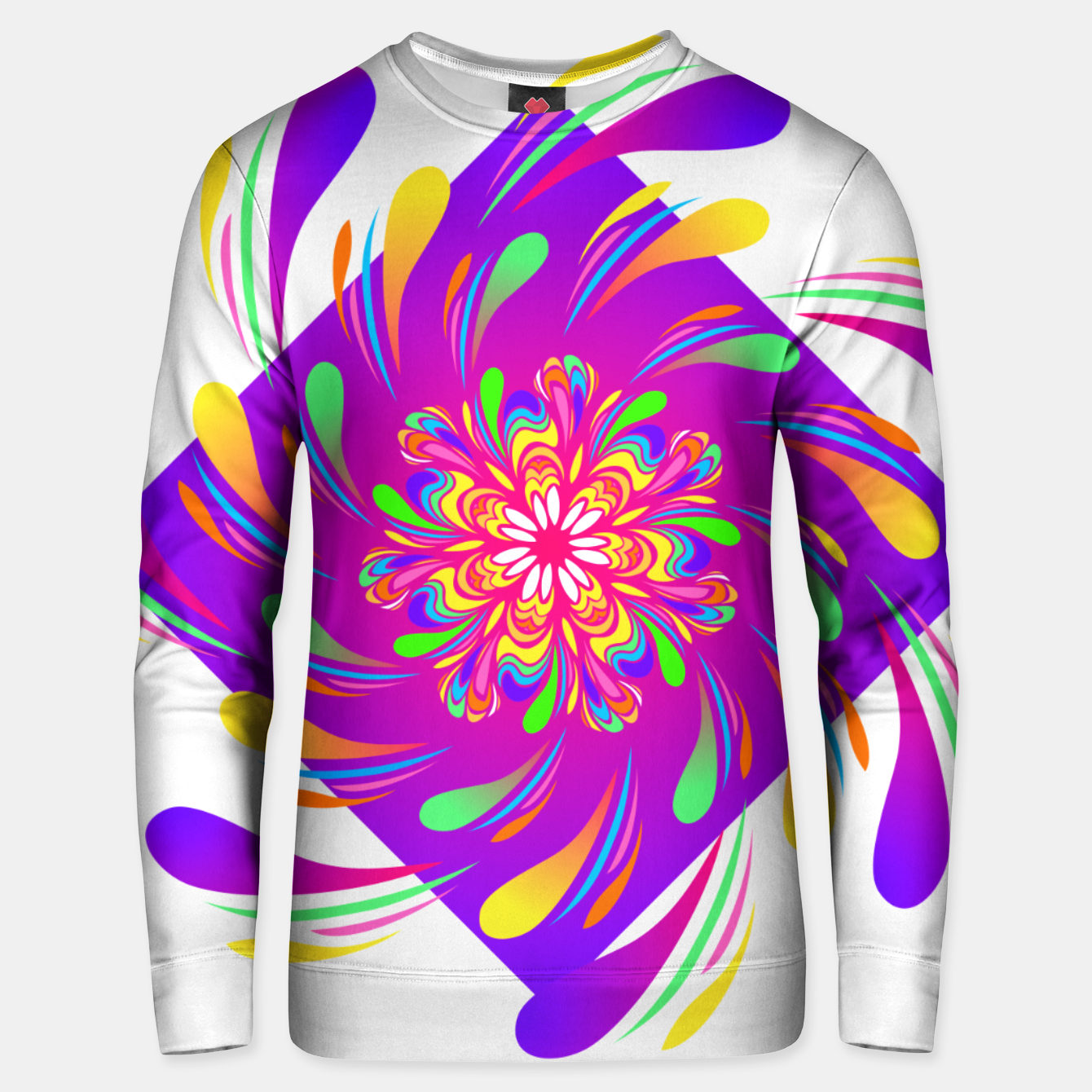 Image of Violet Spiral Flower by #Bizzartino Unisex sweater - Live Heroes