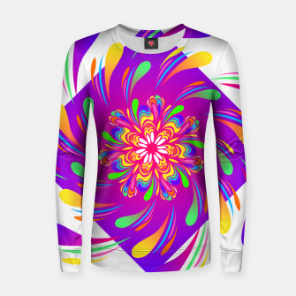 Violet Spiral Flower by #Bizzartino Women sweater thumbnail image