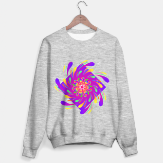 Miniatur Violet Spiral Flower by #Bizzartino Sweater regular, Live Heroes