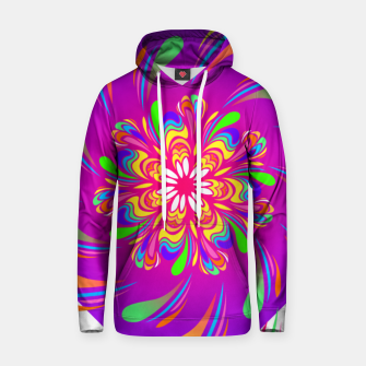 Violet Spiral Flower by #Bizzartino Hoodie thumbnail image