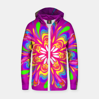 Violet Spiral Flower by #Bizzartino Zip up hoodie thumbnail image