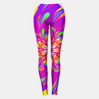 Miniatur Violet Spiral Flower by #Bizzartino Leggings, Live Heroes