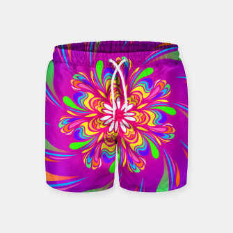 Miniatur Violet Spiral Flower by #Bizzartino Swim Shorts, Live Heroes