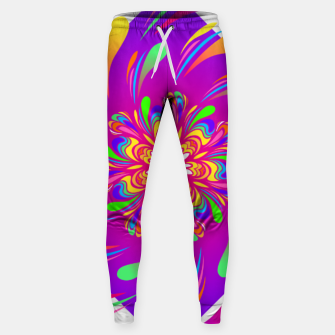 Miniatur Violet Spiral Flower by #Bizzartino Sweatpants, Live Heroes