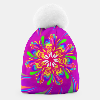 Violet Spiral Flower by #Bizzartino Beanie thumbnail image