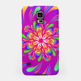 Miniatur Violet Spiral Flower by #Bizzartino Samsung Case, Live Heroes