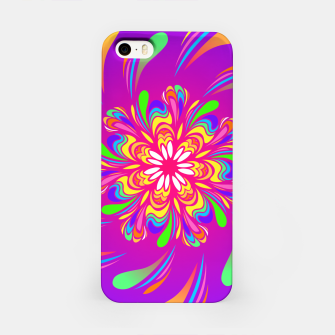Violet Spiral Flower by #Bizzartino iPhone Case thumbnail image