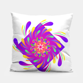 Miniatur Violet Spiral Flower by #Bizzartino Pillow, Live Heroes