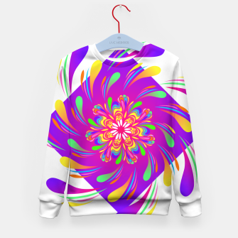 Violet Spiral Flower by #Bizzartino Kid's sweater thumbnail image
