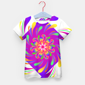 Violet Spiral Flower by #Bizzartino Kid's t-shirt thumbnail image