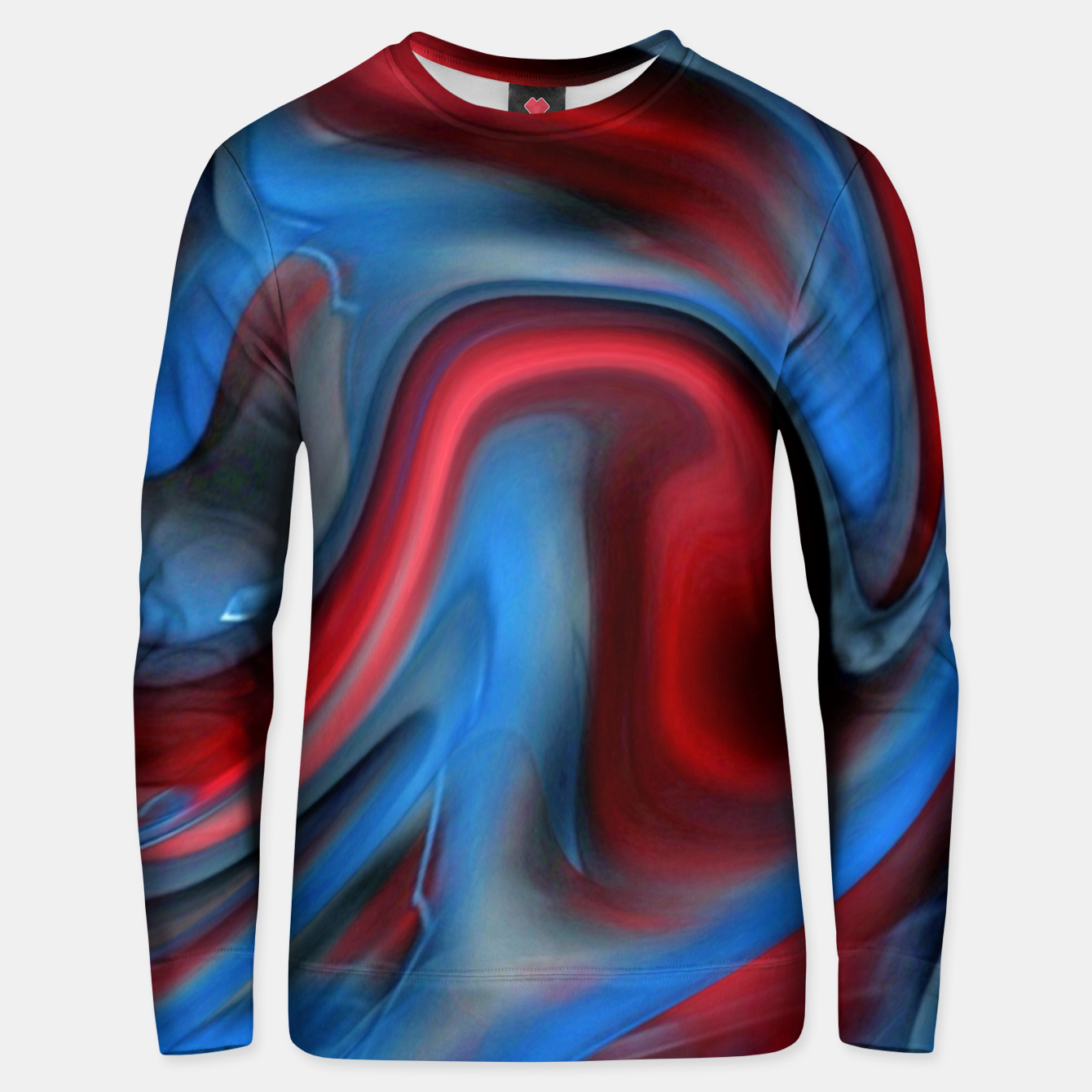 Image of Blue Red Swirl Unisex sweater - Live Heroes