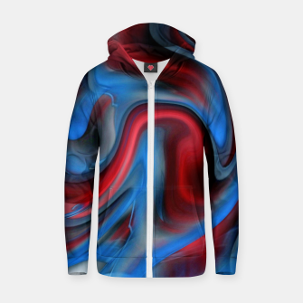 Thumbnail image of Blue Red Swirl Zip up hoodie, Live Heroes