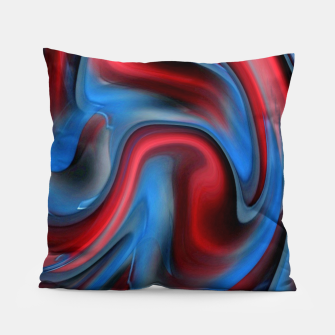 Thumbnail image of Blue Red Swirl Pillow, Live Heroes