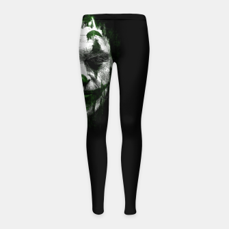 Thumbnail image of Joke Face Leggings para niña, Live Heroes