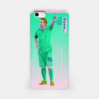 Miniatur Golden Booters - Messi Third Kit Variant iPhone Case, Live Heroes