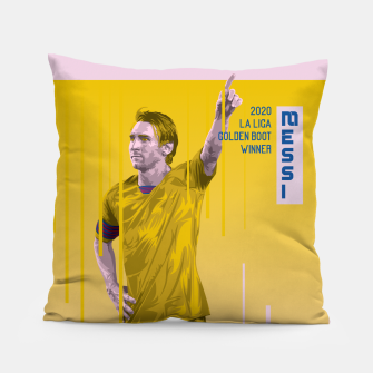 Thumbnail image of Golden Booters - Messi Away Variant Pillow, Live Heroes