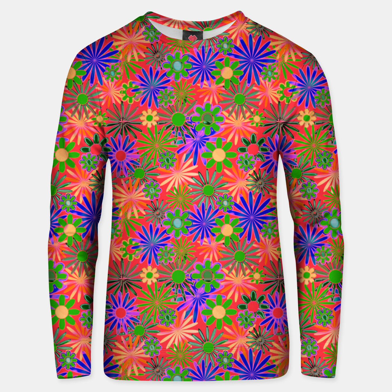 Image of Peach and Purple Daisies Unisex sweater - Live Heroes