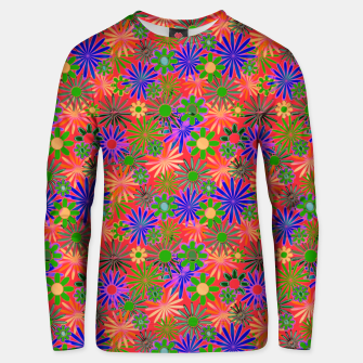 Thumbnail image of Peach and Purple Daisies Unisex sweater, Live Heroes