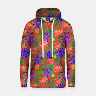 Peach and Purple Daisies Hoodie thumbnail image
