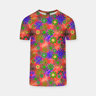 Peach and Purple Daisies T-shirt thumbnail image