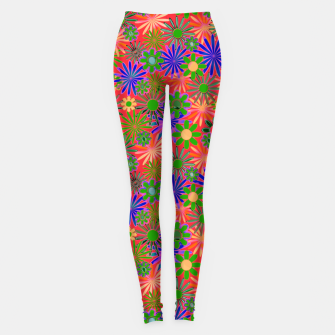 Miniature de image de Peach and Purple Daisies Leggings, Live Heroes