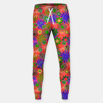 Peach and Purple Daisies Sweatpants thumbnail image